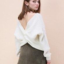 pullover jerseys mujer moda 2019 knitted sweater black white yellow v neck sexy autumn clothes women vestiti donna autunno босоножки donna moda donna moda do030awiwm24