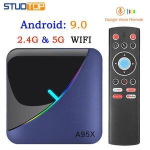 ТВ-Приставка Smart TV A95X F3, RGB светильник, Android 9,0, Amlogic S905X3, 4 Гб, 32 ГБ, 64 ГБ, Wi-Fi, BT, ТВ-приставка Youtube 8 K, 4 K, IP, медиаплеер