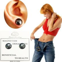 2Pcs/Pair Bio Magnetic Therapy Weight Loss Stud Earrings Slimming Health Care Stimulating Acupoints Magnet Stickers H55D