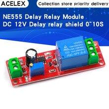 NE555 DK555 interrupteur de minuterie Module de déconnexion réglable Module de relais de retard DC 12V relais de retard bouclier 0 ~ 10S