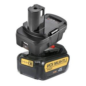 DM18RL przetwornica do baterii Adapter USB DM20ROB do konwersji RYOBI DEWALT 20V Milwaukee M18 do 18V akumulator
