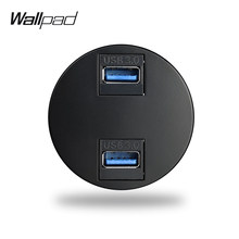 Wallpad L6 5 Colors Double 3.0 USB Extension Ports Wall Socket Module Match L6 Plates Free Combination DIY