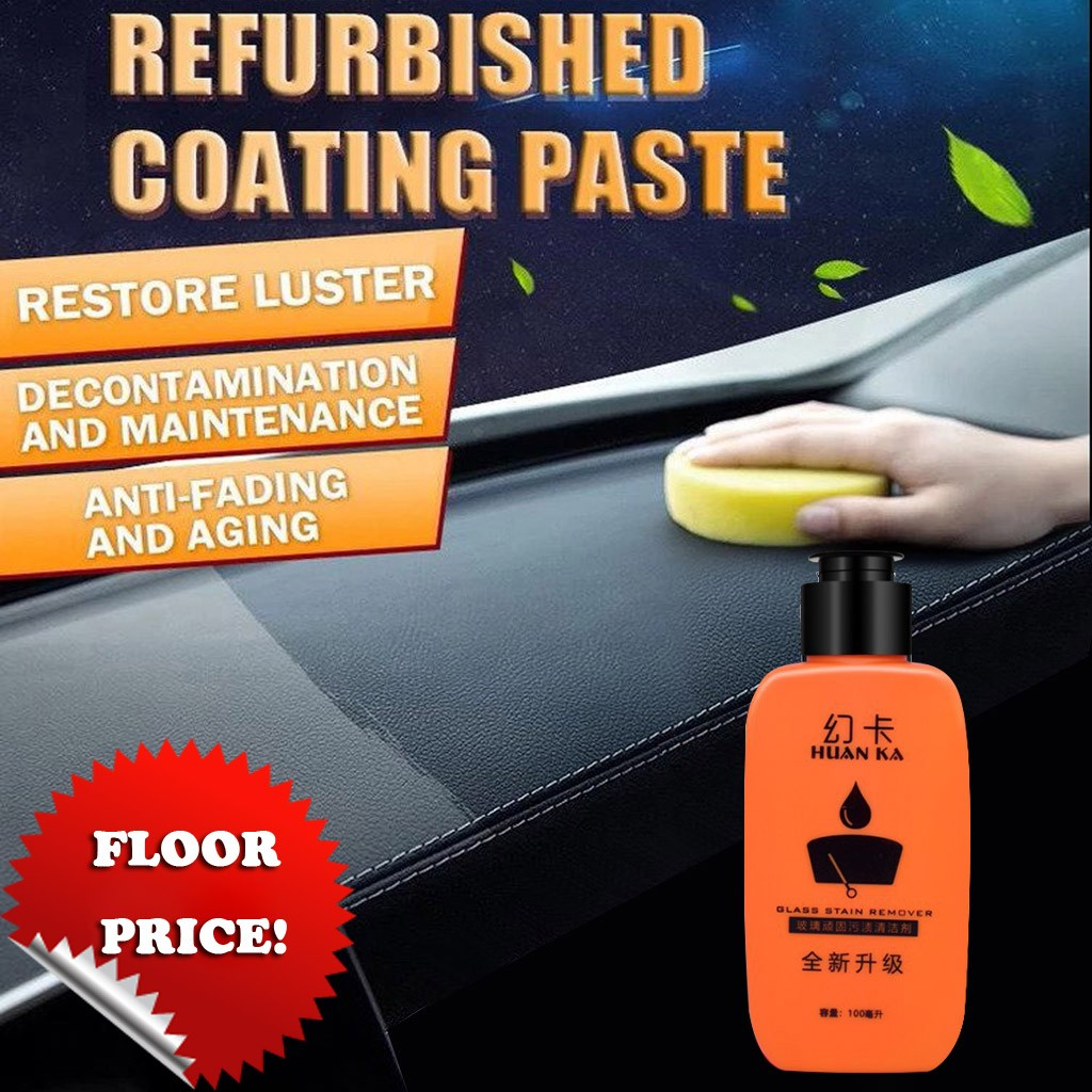 100ML Car Interior Leather Renovated Coating Paste Surface Seat Polish Wax Inner Dashboard Cleaner  #BL30