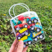 6pcs Kid Car Model Toys Set Pull Back Car Mobile Vehicle Fire Truck Taxi Model Kids Mini Cars Toy for Children Gifts