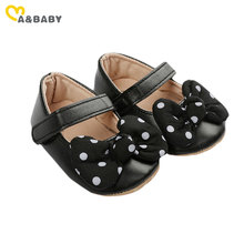Ma&Baby 0-18M Spring Autumn Newborn Infant Baby Girls Bow Shoes Cute Dot Pu Leather First Walkers For Baby Girl