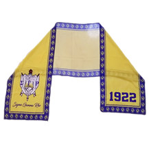 Multifunctional Chiffon Material Scarf Sigma Gamma Rho Sorority Greek Letter Chiffon Scarf yellow and blue color SGRho Scarf 2(China)