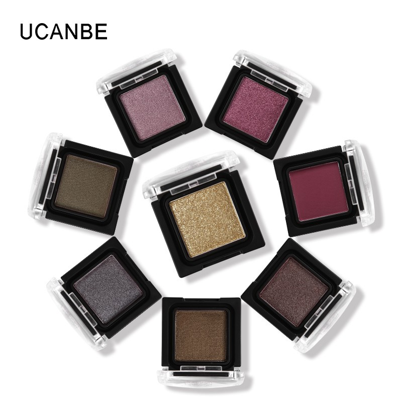UCANBE Shingle Matte Eye Shadow 8 Color Diamond Glitter Eyeshadow Palette Metal Gold Powder Nude Shine Pigment Duo Chrome Makeup image