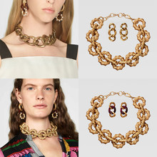 Bestessy ZA Metal Resins Golden Color Vintage Choker Big Statement Necklace For Women Jewelry Bijoux Party Dress(China)