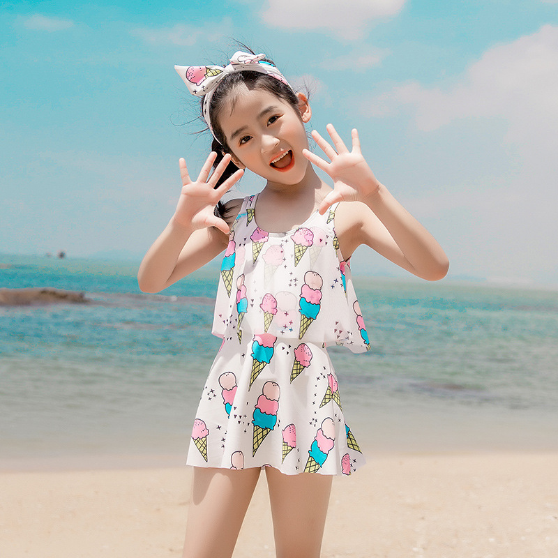KID'S Swimwear Girls Baby Cute One-piece Princess Dress-GIRL'S Small CHILDREN'S Big Boy Parent And Child CHILDREN'S Swimming Sui