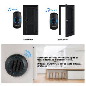 Image 4 - KERUI kapı zili karşılama ev su geçirmez kapı zili akıllı kablosuz halka kapı zili 100M iletim lityum pil kapı zili