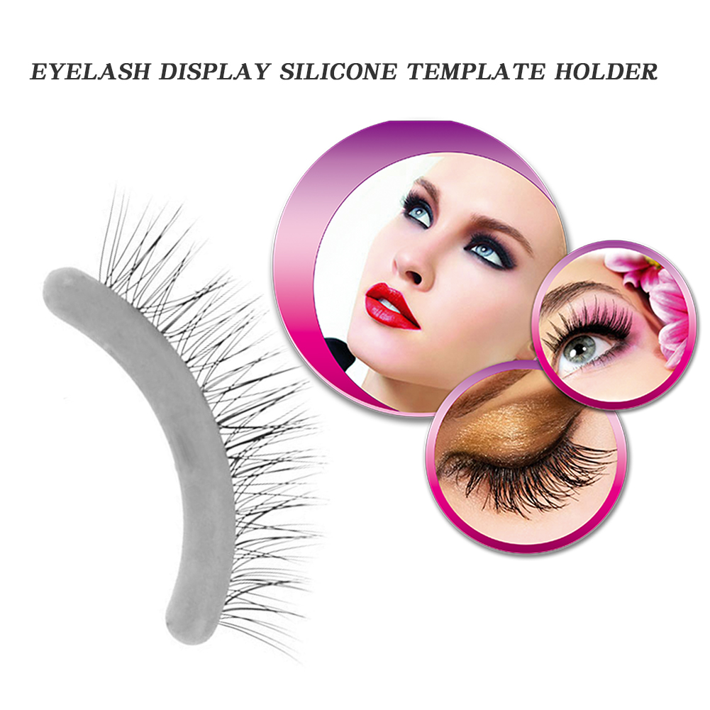 10pcs Silicone False Lashes Display Strip Excellent Craftsmanship Well Durability Graft Planting Fake Eyelash Show Bar