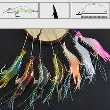 Рыболовная приманка мягкие креветки световой искусственные приманки