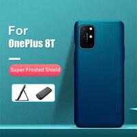 Funda para OnePlus 8T de 6,55 pulgadas con soporte para teléfono NILLKIN, carcasa trasera rígida mate para PC, para One Plus 8T, OnePlus 8T Pro