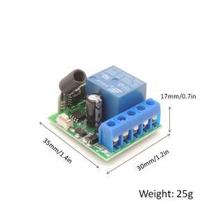 Image 2 - DieSe 433Mhz DC12V 10A ממסר 1CH RF מקלט מודול ושלט רחוק עבור LED מרחוק Controland מרחוק אור מתג