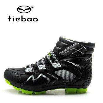 TIEBAO-zapatos para ciclismo de montaña, para invierno, con autobloqueo, zapatillas deportivas para...