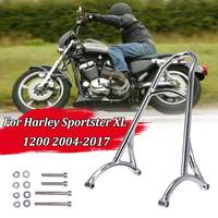 Chrome Motorcycle Short Passenger Sissy Bar Backrest For Harley For Sportster XL Iron Nightster 883 1200 Forty Eight 48 2004 17