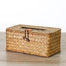 Коробка Для Хранения Чехол ручной работы Бумага Полотенца тканевая коробка морские водоросли тканые салфетки держатель корзины, Декор для дома, контейнер для хранения для рабочего стола