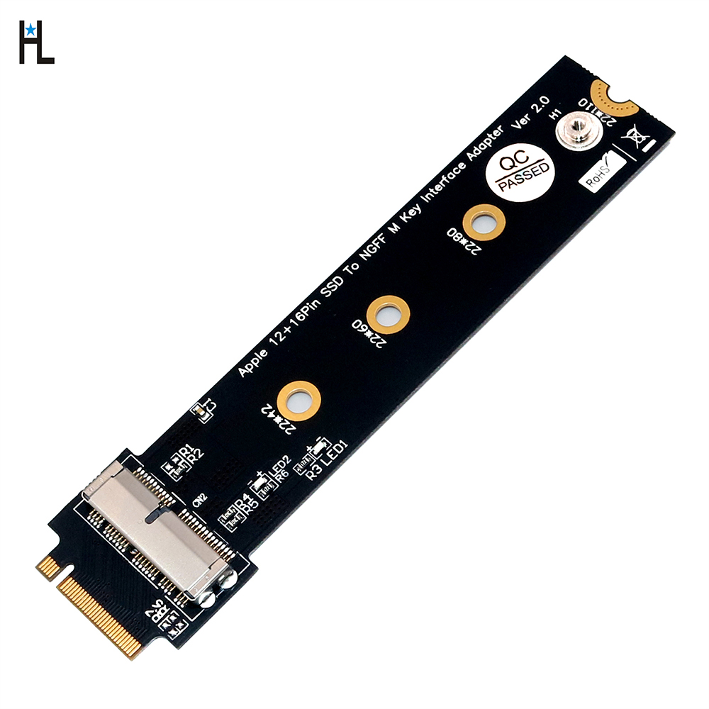 PCIe SSD to M.2 Key M <font><b>Adapter</b></font> Card for 2013 2014 2015 2016 2017 <font><b>MacBook</b></font> Air Pro Retina Hard Drive Converter to NGFF <font><b>M2</b></font> image