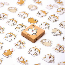 Hot Koop 45 Stks/doos Corgis Briefpapier Stickers Decoratieve Stickers Stickers Diy Decoratie Dagboek Kinderen Gift(China)