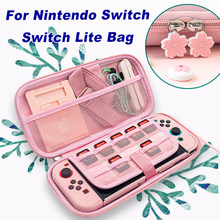 2020 Sakura Portable Storage Bag for Switch Travel Carrying Cherry blossoms Case for Nintendo Switch / Switch lite game Accessor