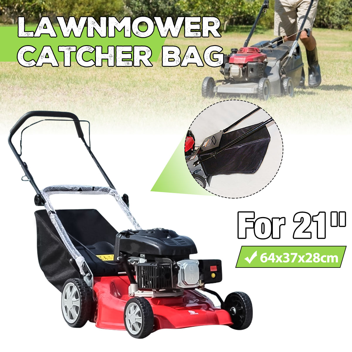 Lawnmower Leaf Grass Catcher Bag For 21