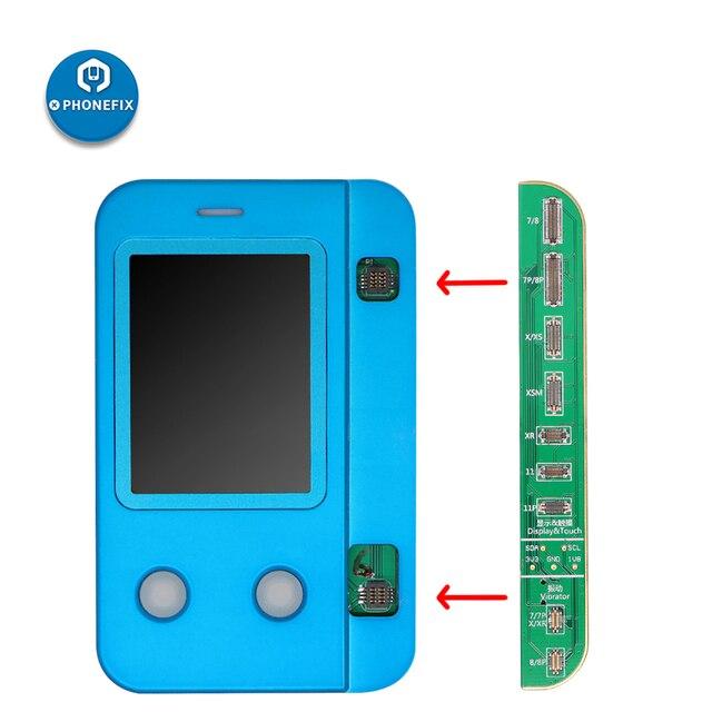 JC V1 LCD Lập Trình Viên Cảm Biến Ánh Sáng Cảm Ứng Rung Đọc Dữ Liệu Viết Phục Hồi Công Cụ Sửa Chữa Cho Iphone 11 Pro Max XS X 8 Plus 8 7P 7