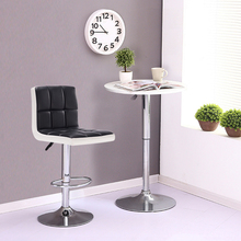 Six-compartment Upholstered Bar Chair Without Armrests Bar Stools Chairs Height Adjustable Counter Pub Chair Modern Style HWC