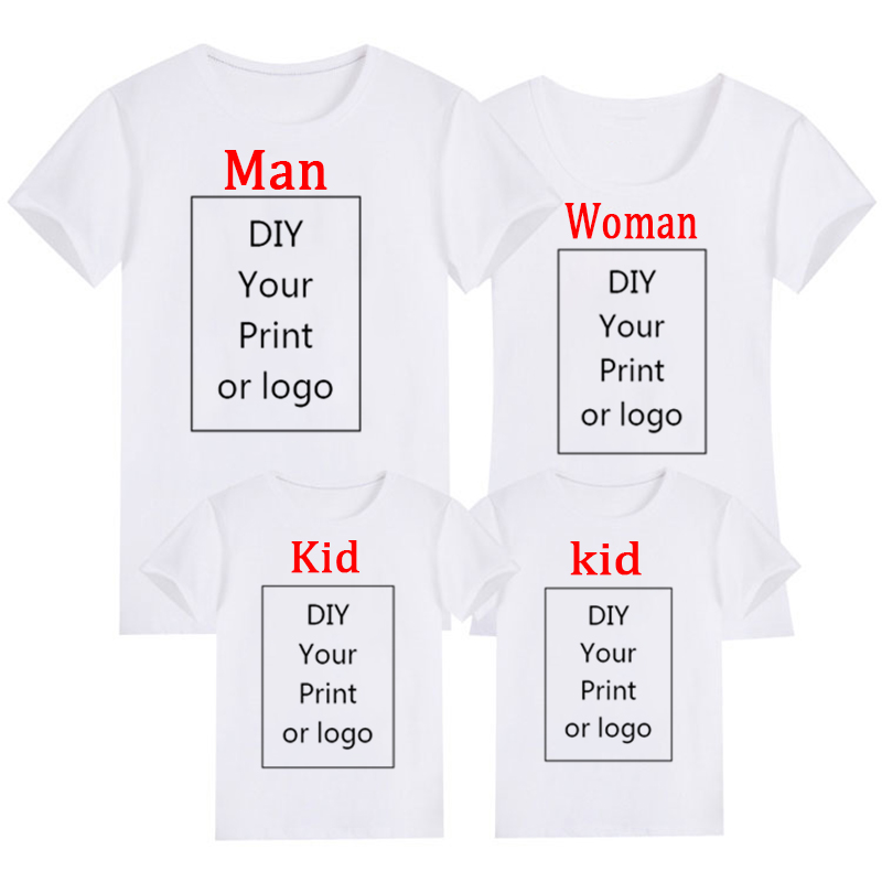 Customized Print T Shirt Men's/Women's/Child's DIY Your Like Photo Or Logo White Top Tees Modal T Shirt Size S-4XL