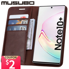 Musubo יוקרה מקרה עבור סמסונג גלקסי הערה 10 אמיתי עור כיסוי עבור Funda הערה 9 Flip ארנק S20 S10e S10 + כרטיס טלפון Coque
