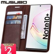 Musubo lüks kılıf Samsung Galaxy not için 10 hakiki deri kapak Funda not 9 Flip cüzdan S20 S10e S10 + kart telefon Coque