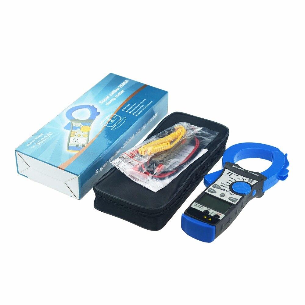 Купить с кэшбэком HoldPeak HP-860N Digital Clamp Meter 6000 counts True RMS 2000A Current Voltage Measuring Capacitance Frequency Multimeter Tools