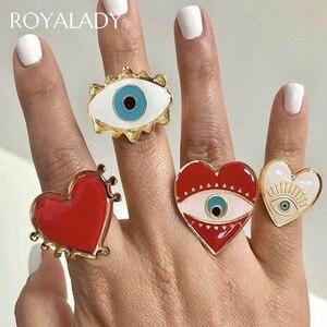 Женское кольцо, регулируемое в богемном стиле, красное, синее, Золотое