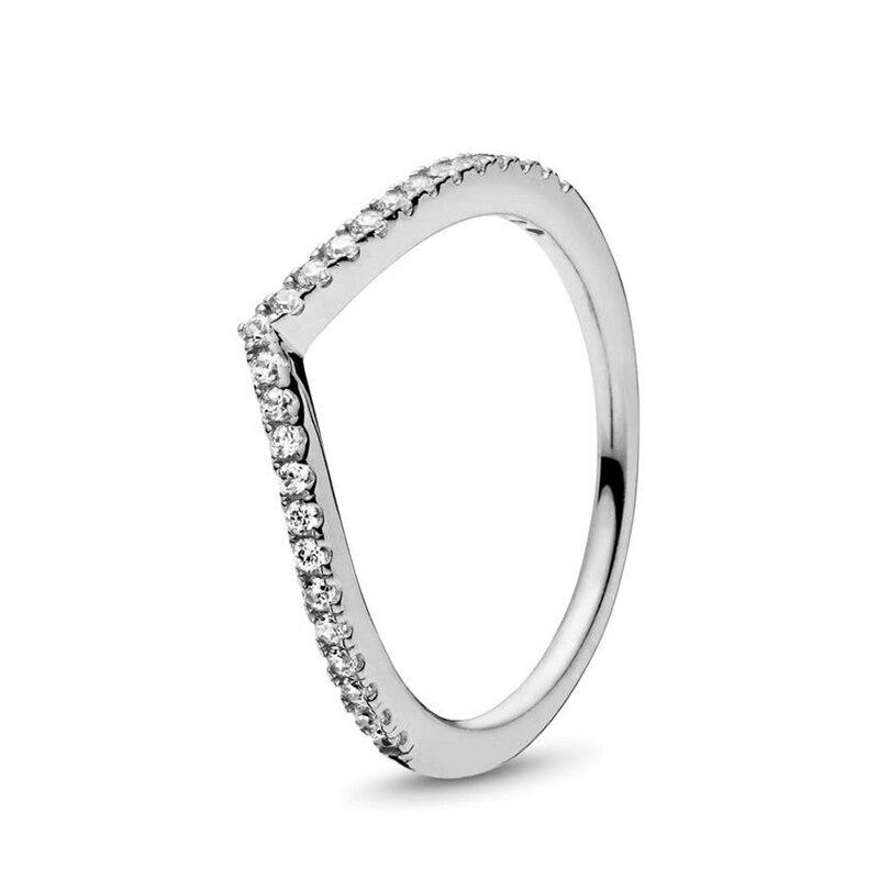 Кольцо на палец в форме сердечко серебряного цвета для женщин, европейская оригинальная Корона, изящные кольца на палец, свадебные украшения, 50 стилей, Прямая поставка - Цвет основного камня: Rings 018