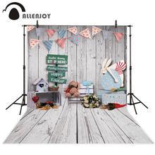 Allenjoy Phục Sinh Phông Nền Gỗ Đồ Chơi Thỏ Mùa Xuân Trang Trí Phòng Đảng Studio Ảnh Nền Đạo Cụ Chụp Ảnh Photophone