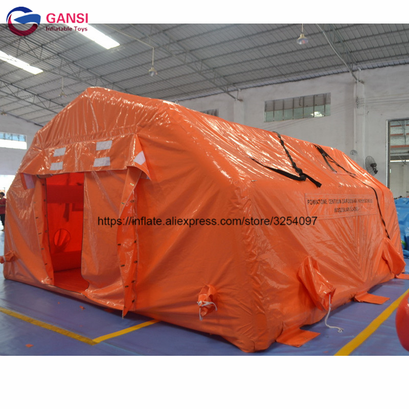Air Tight PVC Inflatable Disaster Relief Tent Commercial Inflatable Medical Tent For Hospital
