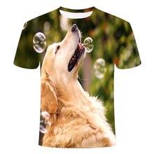 Милые мужские футболки с рисунком собаки Мужские Женские повседневные