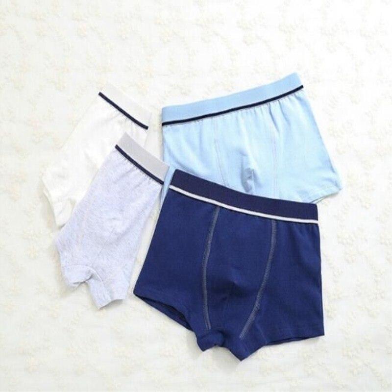 2Pc/lot Boys Pure Cotton Soft Boxers Underpants Baby Cute Kids Underwear Short Pant 2-10Y 2