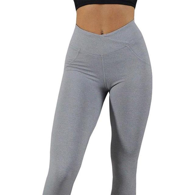 Leggings de gymnastique Sport femmes Fitness Yoga pantalon taille haute entraînement Leggins Scrunch bout à bout ascenseur tenue de Sport hanches haut pantalon mujer