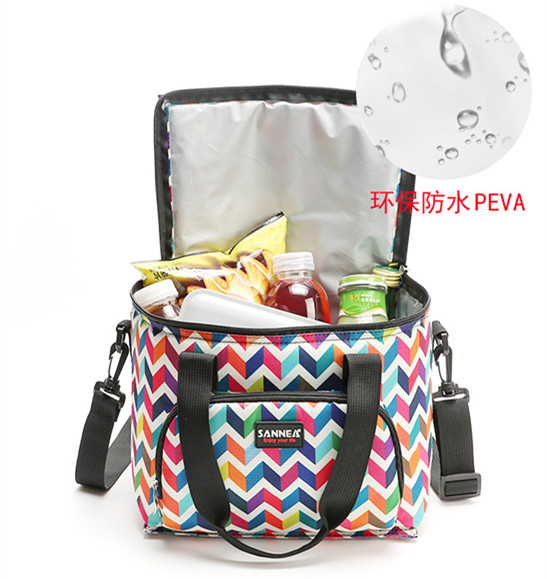 Women Men Large Capacity Portable Lunch Bags  Insulated Tote Fresh Keeping Boxes