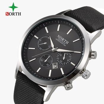 North Brand Fashion Black Men Watch Classic Casual Calendar Quartz Wristwatch