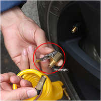 Wooeight 1Pc 8mm Car Truck Auto Brass Tyre Wheel Tire Air Chuck Inflator Pump Valve Clip Clamp Connector Adapter Brass Clamp