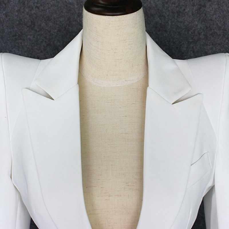 Высокое качество, новинка 2020, Женский Белый приталенный Блейзер, костюм, на одной пуговице, с зубчатым воротником, OL, куртка, приталенный, для офиса, для работы, костюм, пальто