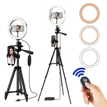 Selfie 링 램프 Selfie 전화 사진 조명 전화 홀더에 대한 삼각대 반지와 Led 링 라이트 Selfie 조절 조명