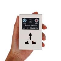Profissional reino unido/ue 220 v telefone rc controle remoto sem fio interruptor inteligente gsm tomada de alimentação para eletrodomésticos