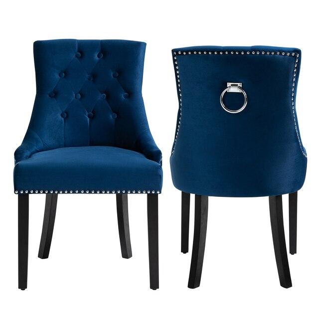 Sigtua 2PCS Upholstered Velvet Dining Chairs Set 5