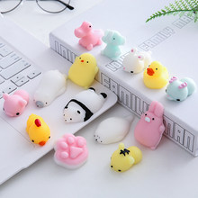 1Pc Mini Cute Mochi Squishy Cat Squeeze Healing Kids Kawaii Stress Reliever Decor Animal Noverty Toys Anti Stress Fun Toy ALL-1(China)