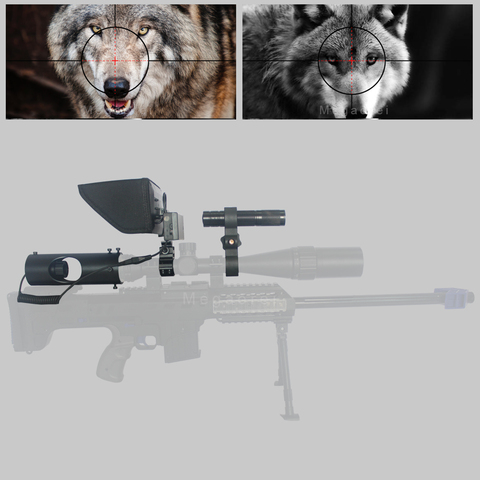 sniper zoom ao ar livre caca optica vista escopo tatico digital laser visao noturna infravermelha