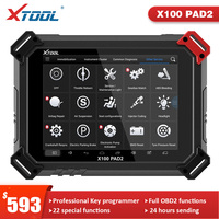 Herramienta de programación de llaves automático X100 PAD2 OBD2, lector de código, herramienta de diagnóstico de coche con función especial, actualización en línea