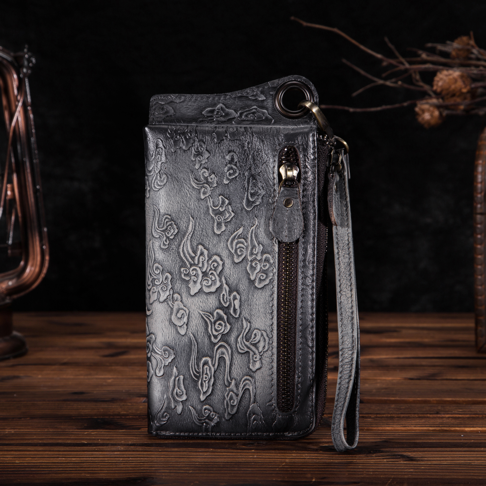 Cattle Men Design Organizer Wallet Real leather Male Fashion Business Credit Card Id Case Wallet Checkbook Purse Snap ck001 1 in Wallets from Luggage Bags