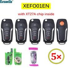 5 TEILE/LOS Xhorse XEFO01EN VVDI Super Fernbedienung mit XT27 XT27A66 Chip Arbeit für VVDI2 /VVDI MINI Schlüssel Werkzeug/VVDI Schlüssel Werkzeug Max